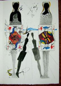 Salvador Dali - Alice in Wonderland - The Queen's Croquet Ground