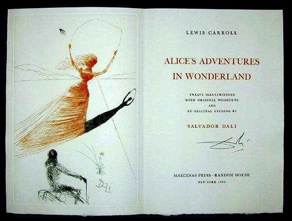 Salvador Dali - Alice in Wonderland - Etching and Signed Title Page
