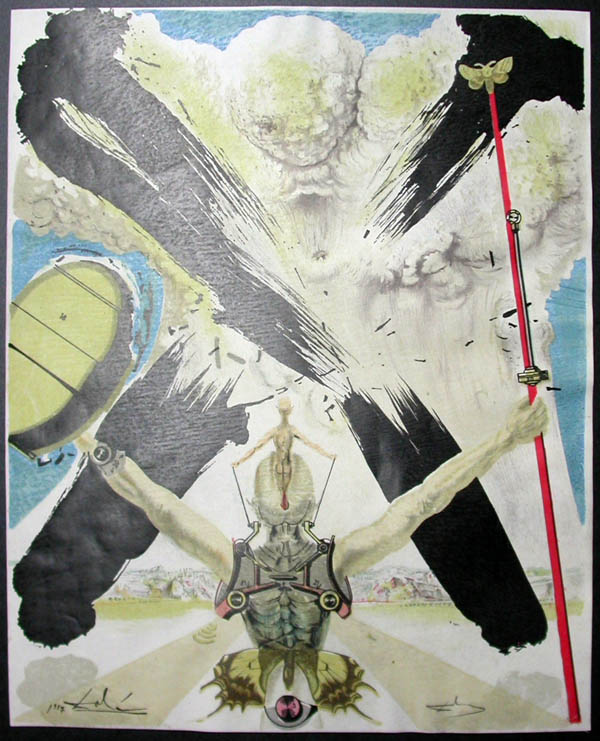 Salvador Dali - Don Quichotte de la Mancha, Book A - 1957 - L'ere atomique The atomic era