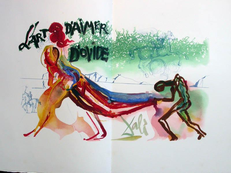 Salvador Dali - L'Art d'Aimer - Ovide - Double page lithograph (frontispiece)