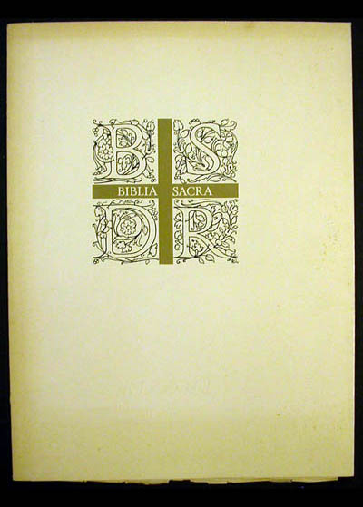Salvador Dali - Biblia Sacra - Prospectus Cover