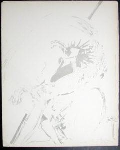 Salvador Dali - Don Quichotte de la Mancha, Book A - 1957 - Don Quichotte Accable Don Quichotte Overwhelmed - #2