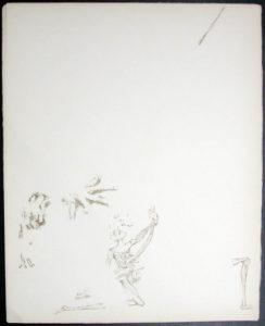 Salvador Dali - Don Quichotte de la Mancha, Book A - 1957 - Don Quichotte Accable Don Quichotte Overwhelmed - #3