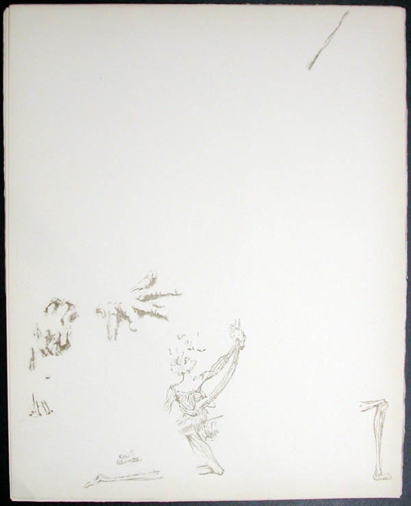 Salvador Dali - Don Quichotte de la Mancha, Book A - 1957 - Don Quichotte Accable Don Quichotte Overwhelmed - #3