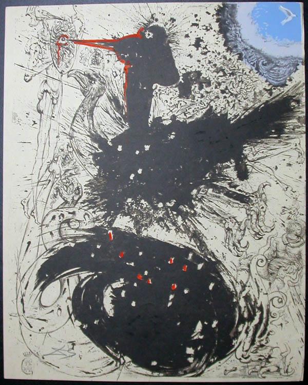Salvador Dali - Don Quichotte de la Mancha, Book A - 1957 - Les Chimere The Visions