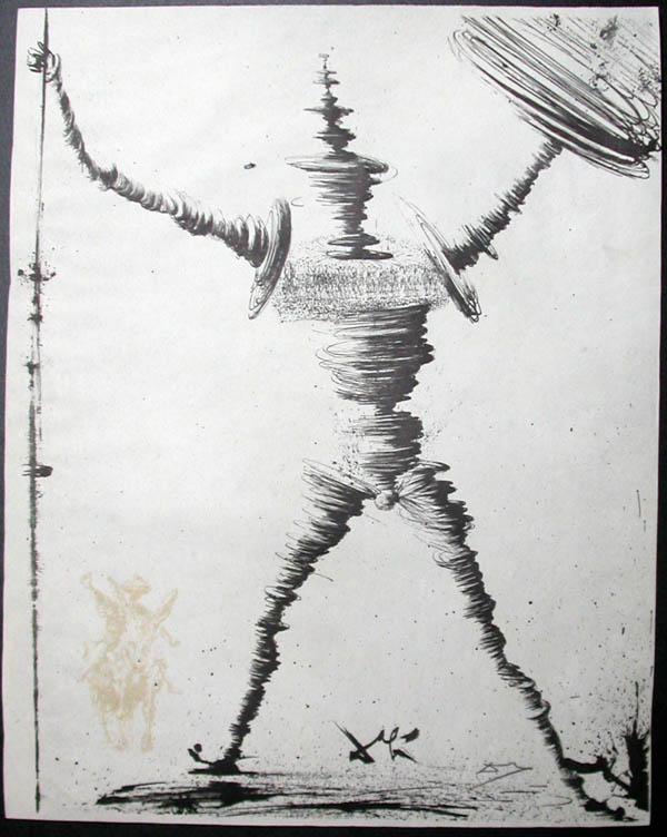 Salvador Dali - Don Quichotte de la Mancha, Book A - 1957 - Don Quichotte