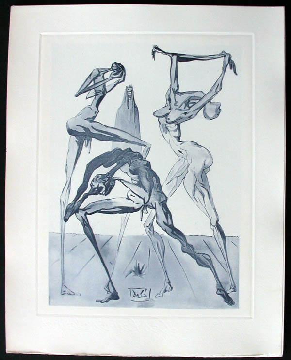 Salvador Dali - Divine Comedy Complete Books - The Sodomites