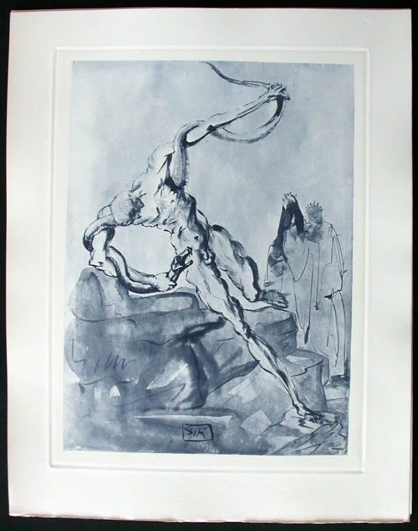 Salvador Dali - Divine Comedy Complete Books - The Punishment ofVanni Fucci
