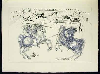 Salvador Dali - La Vida es Sueno, Life is a Dream - The Knights
