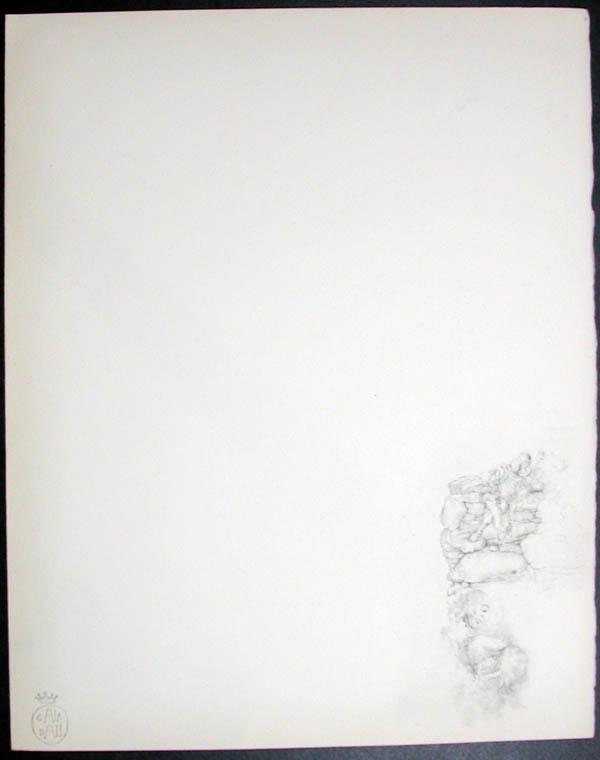 Salvador Dali - Don Quichotte de la Mancha, Book A - 1957 - Don Quichotte en lecture Don Quichotte Reading - #2