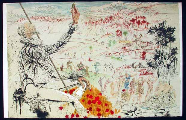 Salvador Dali - Pages choisies de Don Quichotte de la Mancha - The Golden Age