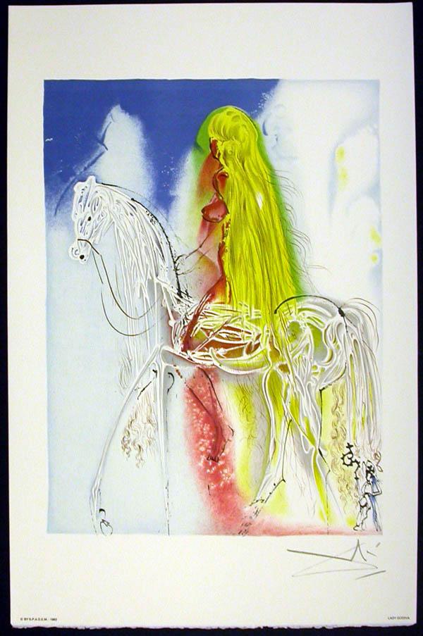 Salvador Dali - Les Chevaux de Dali - Lady Godiva