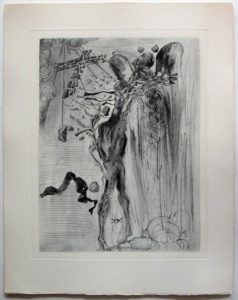 Salvador Dali - Divine Comedy Complete Books - The Apparition of Dante's Great-Great-Grandfather