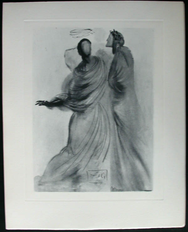 Salvador Dali - Divine Comedy Complete Books - Beatrice Comforts the Poet
