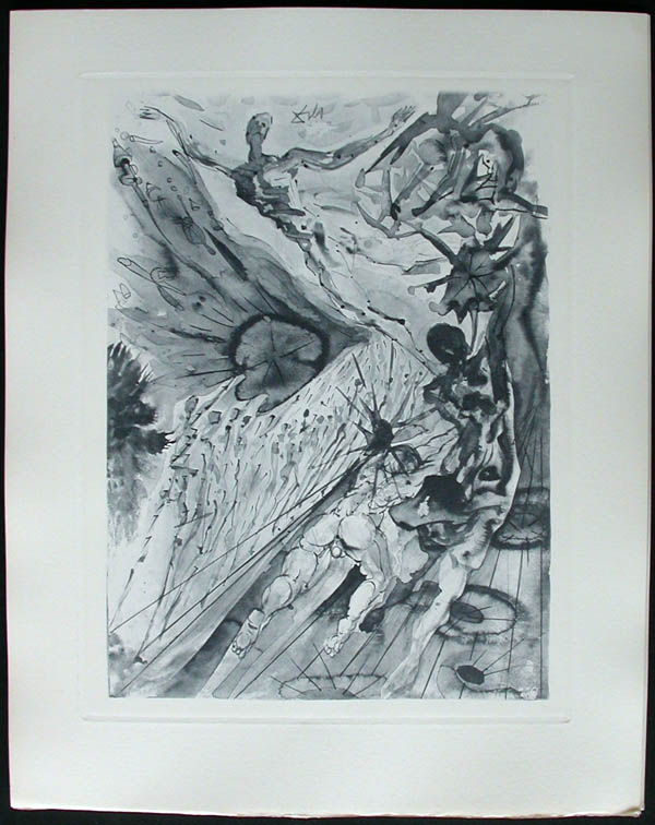 Salvador Dali - Divine Comedy Complete Books - The Two Crowds ofthe Lustful