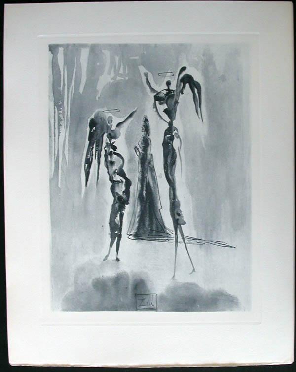 Salvador Dali - Divine Comedy Complete Books - St. Peter and Dante