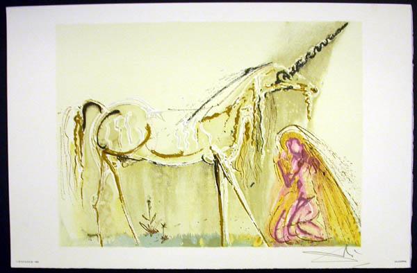 Salvador Dali - Les Chevaux de Dali - Unicorn