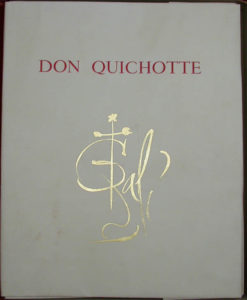 Salvador Dali - Don Quichotte de la Mancha, Book A – 1957 - Cover Page