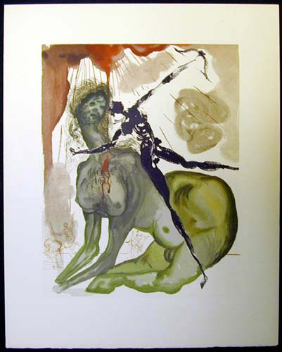 Salvador Dali - Divine Comedy - The Minotaur