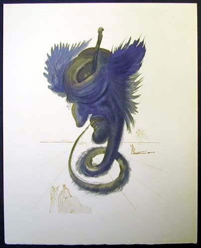 Salvador Dali - Divine Comedy - The Black Cherub