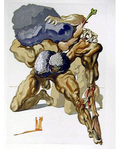 Salvador Dali - Divine Comedy - The Avaricious and the Prodigal