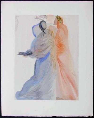 Salvador Dali - Divine Comedy - Beatrice Comforts the Poet