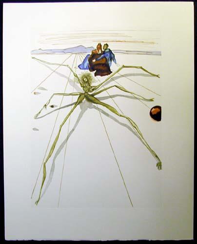 Salvador Dali - Divine Comedy - Arachne