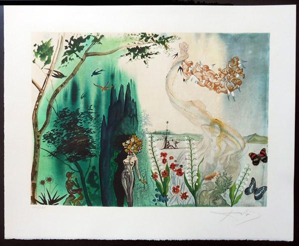 Salvador Dali - Four Seasons - Spring