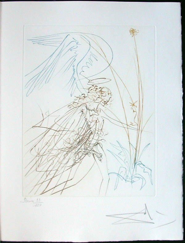Salvador Dali - Paradise Lost - L'ange(The Angel)