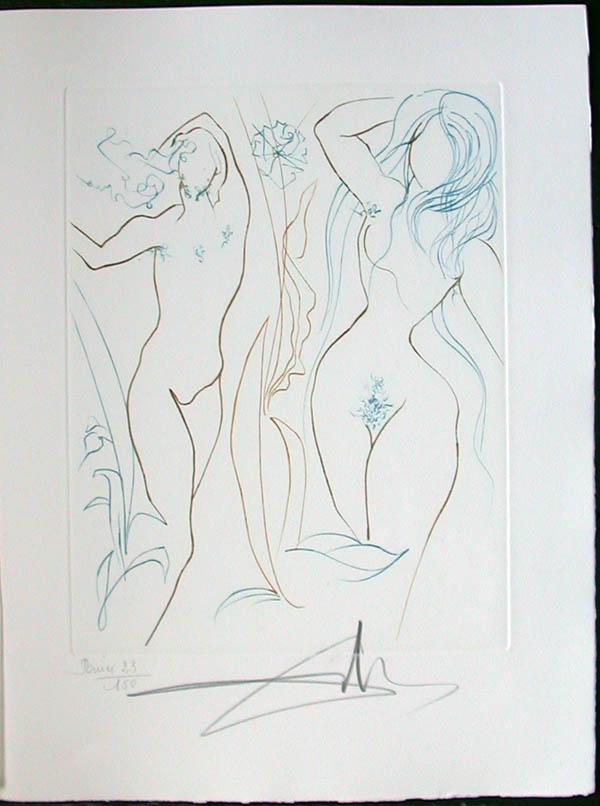 Salvador Dali - Paradise Lost - Adam et Eve(Adam and Eve)