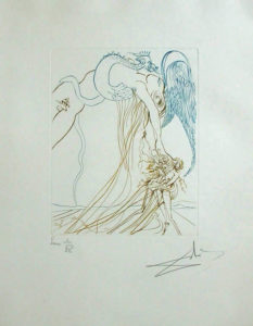 Salvador Dali - Paradise Lost - La Tentation (The Temptation)