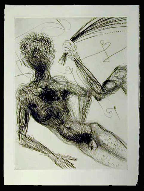 Salvador Dali - La Venus aux Fourrures - La Femme au Fouet (The Woman with a Whip)