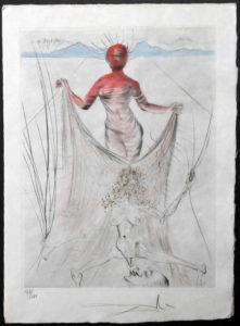 Salvador Dali - La Venus aux Fourrures - La Femme Tenant un Voile(The Woman Holding a Veil)