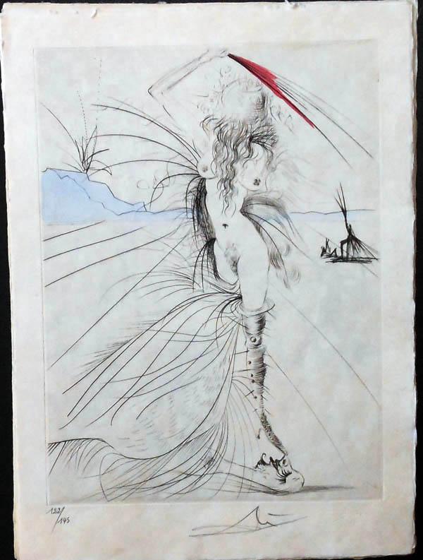 Salvador Dali - La Venus aux Fourrures - Les Aigrettes(The Plumes)