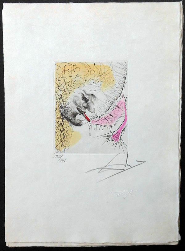 Salvador Dali - La Venus aux Fourrures - The Man Kissing the Shoe