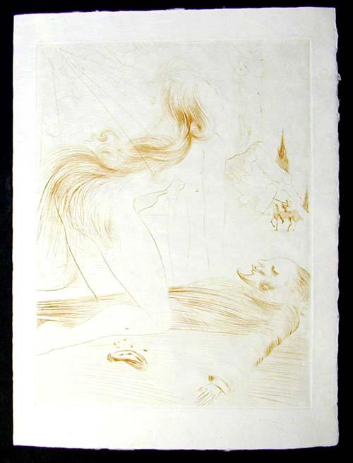Salvador Dali - La Venus aux Fourrures - La Femme a Genou(The Kneeling Woman)
