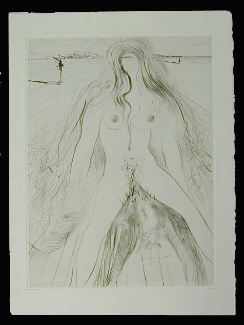 Salvador Dali - La Venus aux Fourrures - La Femme a Cheval (The Woman on a Horse)