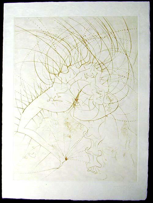 Salvador Dali - La Venus aux Fourrures - La Femme - Feuille(Lady - Leaf)