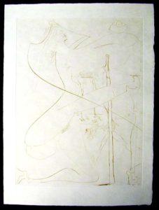 Salvador Dali - La Venus aux Fourrures - La Femme a la Bequille(Woman with a Crutch)
