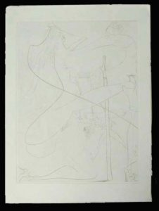 Salvador Dali - La Venus aux Fourrures - La Femme a la Bequille (Woman with a Crutch)
