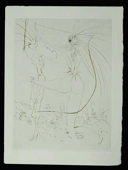 Salvador Dali - La Venus aux Fourrures - Les Fesses Piquantes (The Piquante Buttocks)