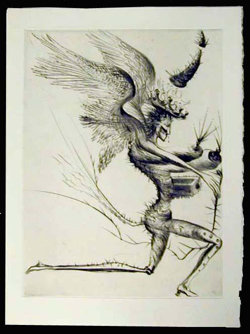 Salvador Dali - La Venus aux Fourrures - Le Demon Aile (The Winged Demon)