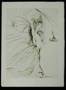 Salvador Dali - La Venus aux Fourrures - Les Aigrettes (The Plumes)