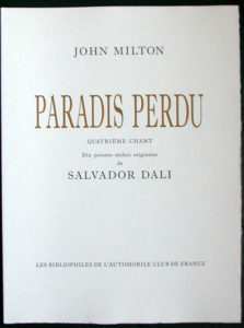 Salvador Dali - Paradise Lost - Title Page
