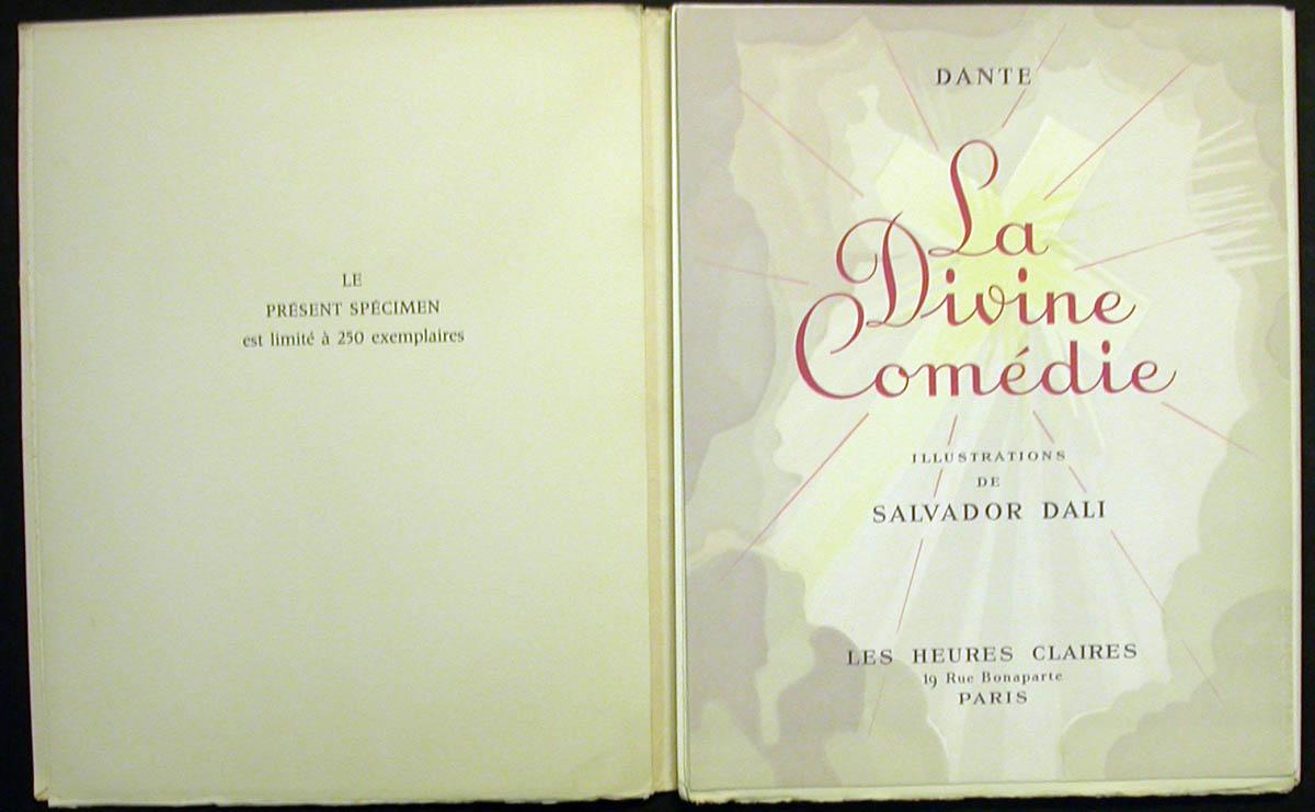 Salvador Dali - Divine Comedy Specimen Book - Tirage