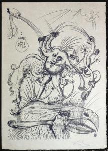 Salvador Dali - Les Songs (Songes) Drolatiques de Pantagruel b/w - B b/w
