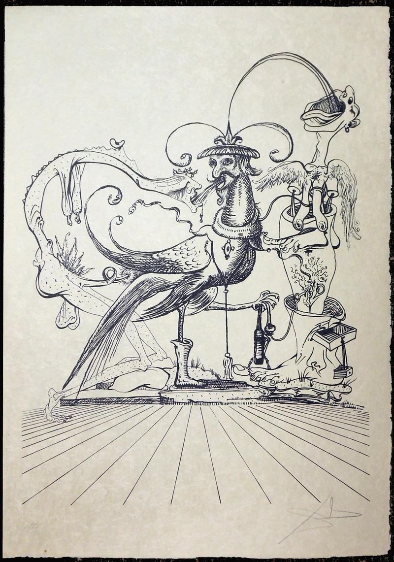 Salvador Dali - Les Songs (Songes) Drolatiques de Pantagruel b/w - H b/w