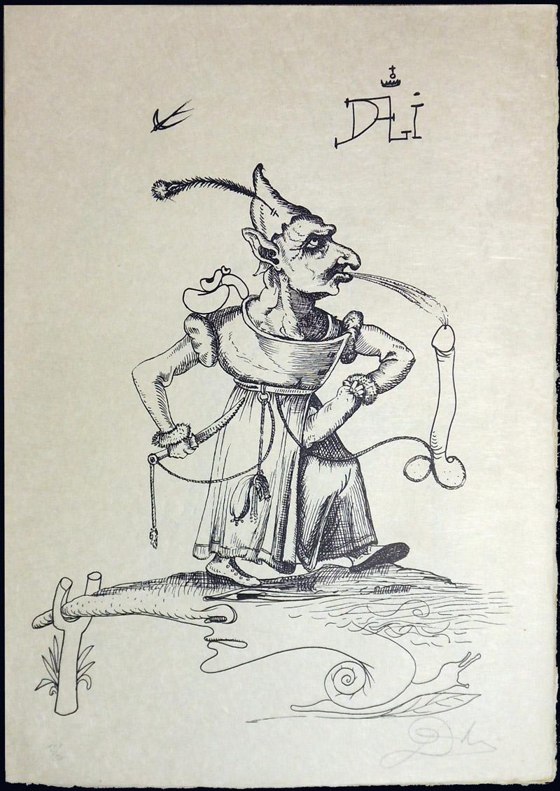 Salvador Dali - Les Songs (Songes) Drolatiques de Pantagruel b/w - J b/w