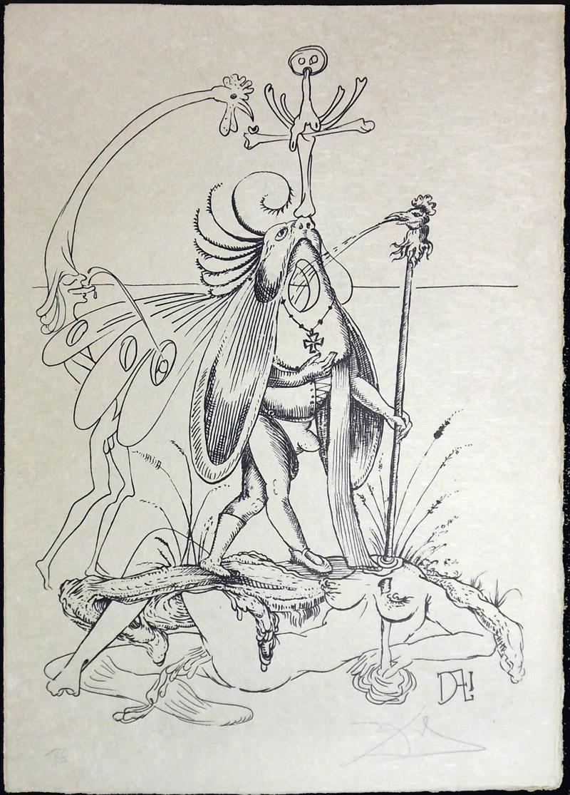 Salvador Dali - Les Songs (Songes) Drolatiques de Pantagruel b/w - R b/w