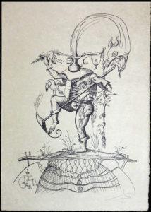 Salvador Dali - Les Songs (Songes) Drolatiques de Pantagruel b/w - T b/w